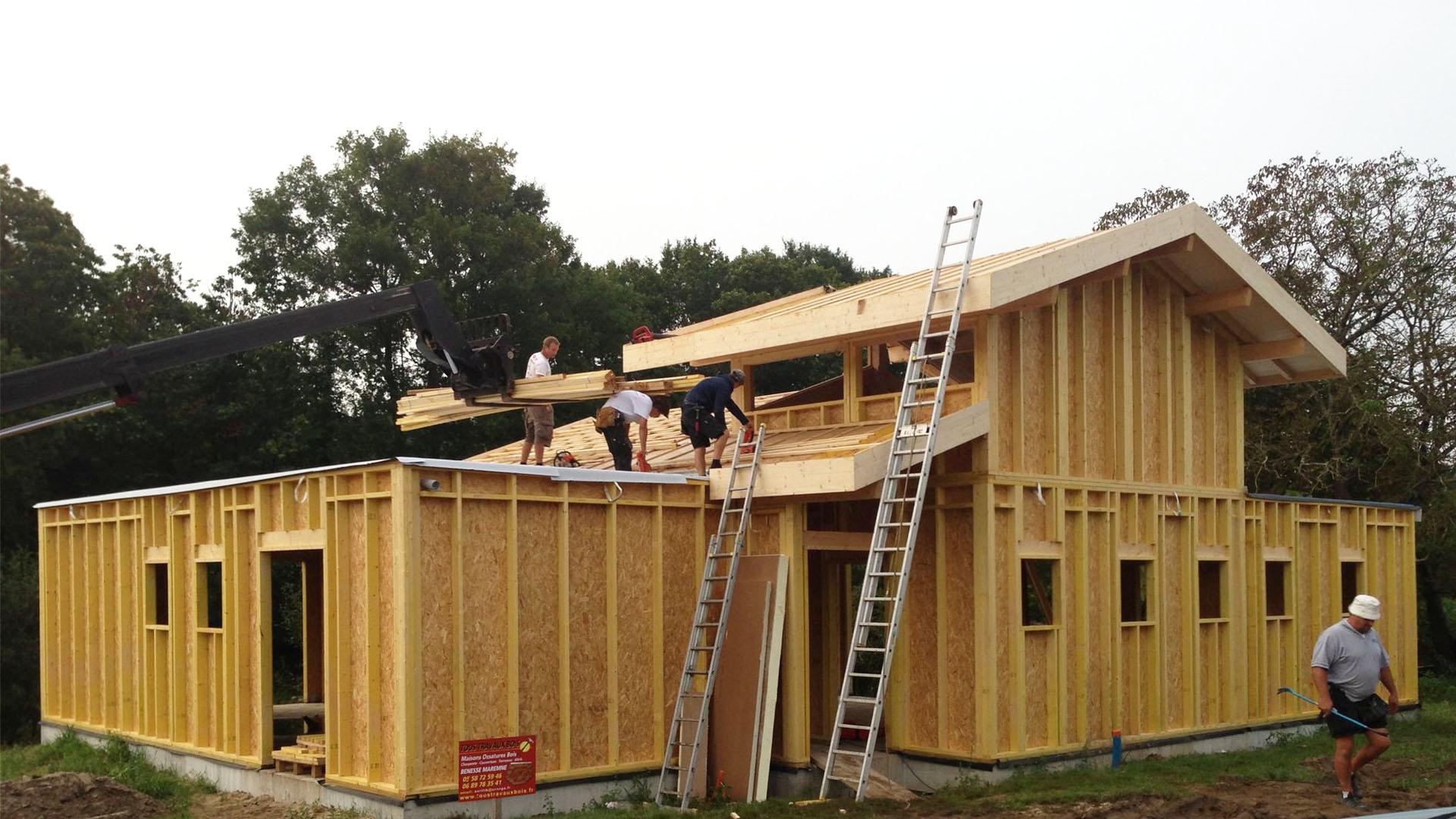 Des maisons en ossature bois - par Maison Eau Soleil